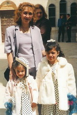 Caroline & Maureen with their mother on Palm Sunday 2002 Holding gifts from Holy Trinity Church, Westfield, NJ